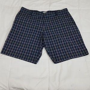 Adidas Golf Shorts Mens 40 Blue Plaid